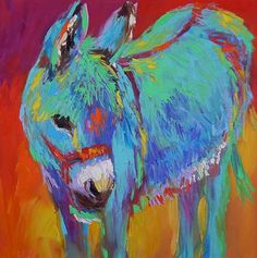 Bindy at the Gallery 2 oil painting  The talented and generous Barbara Meikle loves to help others! Bindy is at Equine Spirit Sanctuary, he's a very special donkey indeed. http://www.artsantafe.us/barbara/burros/bindyatthegallery2.php