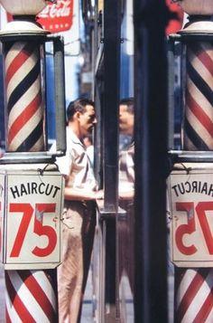 Saul Leiter (1923 - 2013) Haircut, 1956.