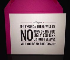 How to Ask Your Bridesmaids to be in Your Wedding | Creative Ideas | @Natalie Bradley