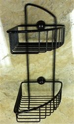 No Drilling Required U003e Double Corner Shower Caddy
