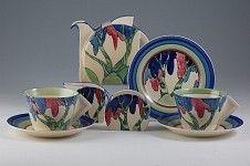 Clarice Cliff Pottery, Rudyard teaset