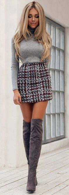 #spring #outfits woman standing beside concrete wall during daytime. Pic by @lifestyle_fashionstyle