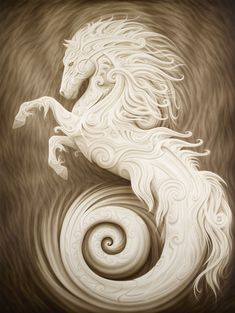 Poseidon& Stallion from A. Andrew Gonzalez Art Shop in 2020 Fantasy Creatures, Mythical Creatures, Art Visionnaire, Equine Art, Visionary Art, Horse Art, Fantasy Art, Cool Art, Illustrator