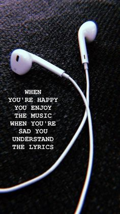 Enjoy the music Wallpaper - Musik - Wallpaper New Quotes, Mood Quotes, True Quotes, Inspirational Quotes, Motivation Quotes, Missing Quotes, Heart Quotes, Short Sad Quotes, Enjoy Quotes