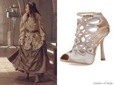 "In the episode 2x21 (""The Siege"") Princess Claude wears a pair of these Oscar de la Renta Napo Sandals"