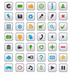 Vector Icon Collection for Web design
