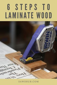 Learn how to laminate wood together for your next woodworing project such as making DIY kitchen cabinets or a table. Learn how to laminate wood together for your next woodworing project such as making DIY kitchen cabinets or a table. Plywood Projects, Woodworking Projects Diy, Diy Pallet Projects, How To Make Kitchen Cabinets, Pallet Furniture Plans, Diy Furniture, Homemade Tables, Wood Laminate, Wood Plans