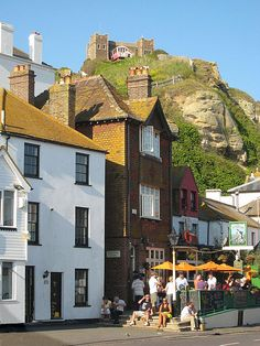The Castle overlooking The Dolphin, Hastings, Sussex.England