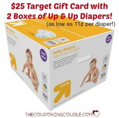WOW!! Get a $25 Target Gift Card with your purchase of Up & Up Diapers! As low as $0.11 per diaper!! Stock up!! Free shipping or store pickup!  Click the link below to get all of the details ► http://www.thecouponingcouple.com/cheap-diaper-deal-target-get-25-gift-card-on-up-up-diapers/  #Coupons #Couponing #CouponCommunity  Visit us at http://www.thecouponingcouple.com for more great posts!