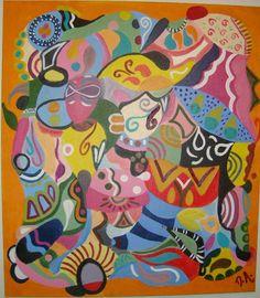 Miscelânea, da série Encantada-mente. Óleo s/ tela - 80x70cm
