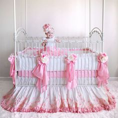 Rose Petals Silk Crib Bedding Compliments of Dimples and Dandelions However they no longer have an online store