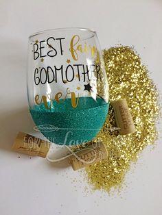Fairy godmother wine glass by RBTcrafts on Etsy