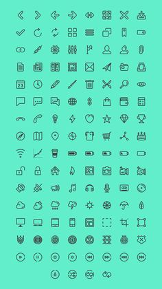 Line icon set for UI & more: I created this set for personal use on my…