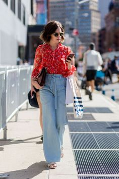 Ditch Your Standard Skinnies for These Wide-Leg Jeans