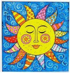 Sun painting, sun art и sun designs. Sun Moon Stars, Sun And Stars, Sun Painting, Good Day Sunshine, 5th Grade Art, Ecole Art, Sun Designs, Sun Art, Art Clipart