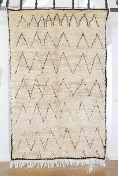 Love this sweet rug.  So quirky.  Moroccan Beni Ourain Carpet
