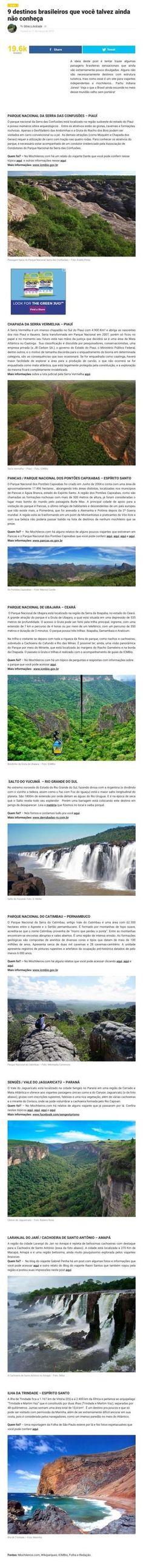 9 destinos brasileiros que não conhece