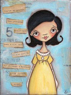 Print of my original folk art painting  You're So by DUDADAZE, $10.00