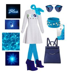"""Blue Kenzo"" by blackdoor ❤ liked on Polyvore featuring Casetify, Valentino, Neiman Marcus, Kenzo, Calypso St. Barth, Giuseppe Zanotti and Christian Dior"