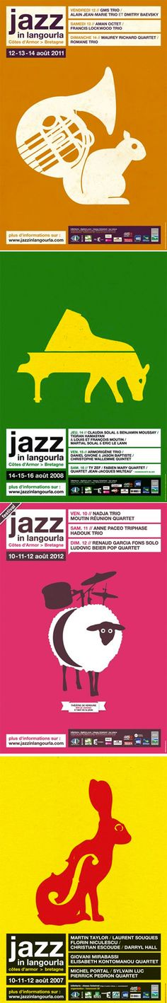 poster set | Jazz In langourla, Visuel Eric Collet