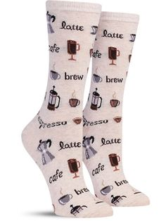 Any way you want it, that's the way you need it. Coffee rules everything around you.. (with CREAM?) so get your drink now, caffiene caffiene rush y'all. Slip on these colorful socks when you need a st