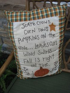 Pillow is cute, but I the poem could be used for a fall rhythmic chant or even write an orff arrangement to it!