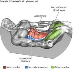 DOUBLE CRUNCH - The exercise involves the abs muscles both the upper and the lower part of the muscle. Bodybuilding Supplements, Bodybuilding Workouts, Men's Health Fitness, Fitness Tips, Sixpack Workout, Workout Fitness, Ab Work, Muscle Anatomy, Abdominal Exercises