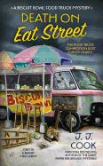 Death on Eat Street by J.J. Cook. The beloved author of the Sweet Pepper Fire Brigade mysteries, moves from the hills of Tennessee to the streets of Mobile, Alabama, for the first in her new Biscuit Bowl Food Truck mysteries. Death on Eat Street is a quirky and entertaining mystery that centers on the backstabbing backside of the food industry.
