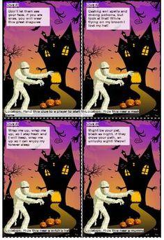 Free halloween scavenger hunt