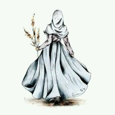 I love hijab . Girl Cartoon, Cartoon Art, Hijab Anime, Cover Wattpad, Hijab Drawing, Moslem, Islamic Cartoon, Hijab Cartoon, Islamic Art