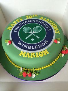 Tennis Birthday Cake cakepins.com