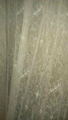 Antique Net Lace Curtain Panel