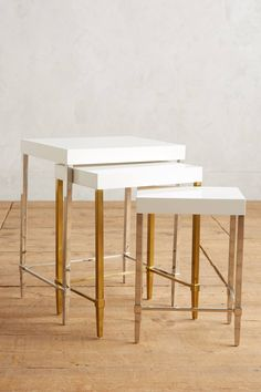 Lacquered Regency Nesting Tables