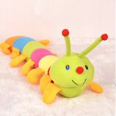 Popular and Colorful Musical Inchworm Soft Lovely Toy $12.00
