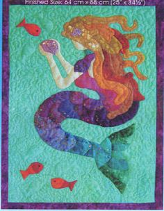 Mermaid Tails wall quilt pattern $21.95