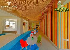 Don't you just love the decor of the Explorer's Club for Kids at Sunscape Sabor Cozumel?