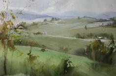 Ilya Ibryaev   - plein Air in Fabriano - watercolor - 53х35 cm