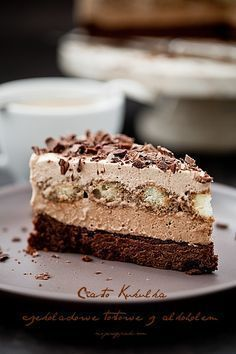Cuckoo Chocolate cake - coffee with alcohol Polish Desserts, New Year's Desserts, Cookie Desserts, Sweet Desserts, Sweet Recipes, Cookie Recipes, Delicious Desserts, Dessert Recipes, Chocolate Cafe