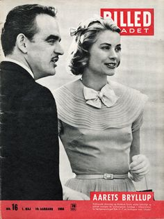 BILLED BLADET - Cover - May 1, 1956 - Prince Rainier and Princess Grace of Monaco