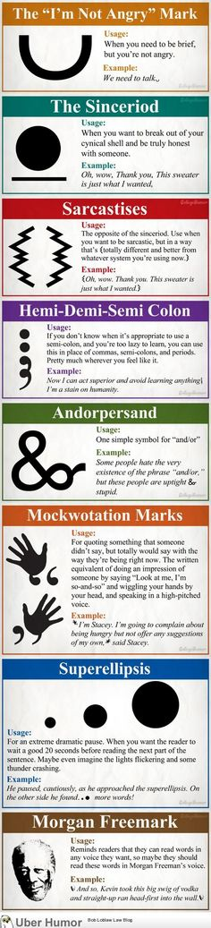 needed punctuation marks