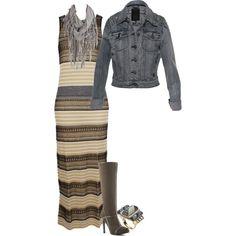 Maxi Dress and Jean Jacket :)