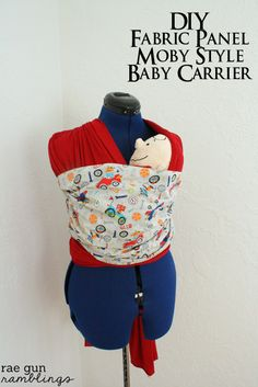 c9e6ed6c269 DIY Fabric Panel Moby Baby Carrier and Rae Gun Giveaway
