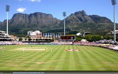 Newlands Stadium in Cape Town, South Africa. Situated in the Southern Suburbs of Cape Town is the Most fantastic cricket stadium in South Africa, apart from a great game of Cricket being played there is Table Mountain as a backdrop Cricket Wallpapers, African Love, Test Cricket, Le Cap, Play N Go, Cape Town South Africa, Table Mountain, World Of Sports, Places Ive Been