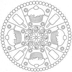 Mandala Coloring Page - Cakes by moldovancsaba, via Flickr - 16 mandala coloring pages
