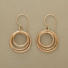 CIRCLE OF THREE EARRINGS: View 1