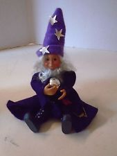 Byers Choice Kindle Halloween Merlin Wizard Child Boy Standing Sitting Flexible