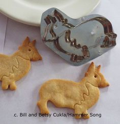HAMMER SONG/B. CUKLA CORGI DOG COOKIE CUTTER/NEW DESIGN TIN METAL HAND MADE . Delightful CORGI dog cookie cutter. All proceeds go to the local animal shelter. ON EBAY thru August 30. Limited Runs so hurry!