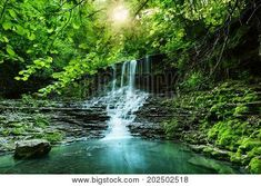 202502518 Phone Wallpaper Design, Long Exposure, Ecology, Cali, Tourism, Waterfall, Scenery, Seasons, Nature