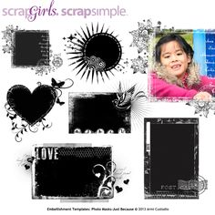 ScrapSimple Embellishment Templates: Photo Masks Just Because