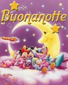 Buonanotte foto nuove 5500 - ImmaginiFacebook.it Greetings Images, Good Morning Good Night, Sweet Dreams, Walt Disney, Beautiful, Facebook, Snoopy, Slaap Lekker, Italian Life